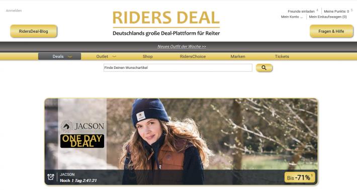 RidersDeal Website